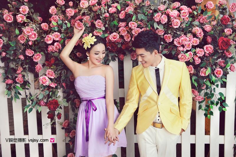韩式清新婚纱照内景