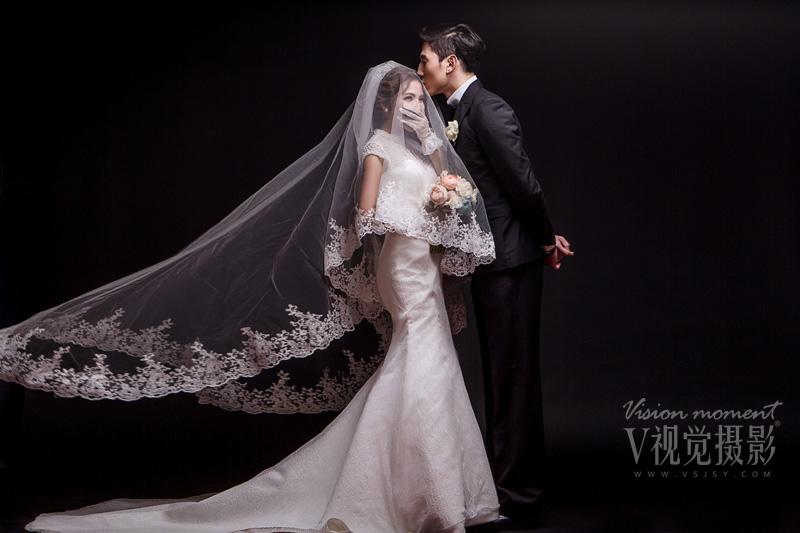 纯色背景婚纱照《韩风》